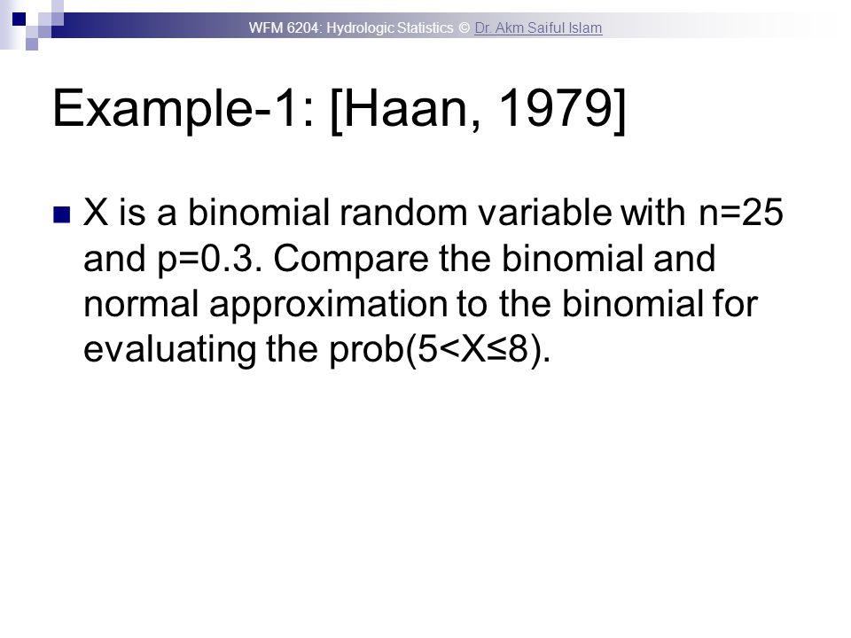 Example-1: [Haan, 1979]